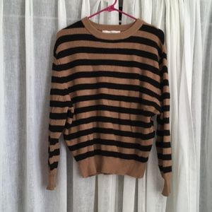 Workshop Brown and black stripe sweater